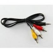 3RCAPLUG CABLE AUDIO VIDO 3 RCA A PLUG 3,5MM