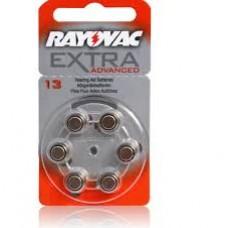 RV13 PILA AUDIOLOGIA 1,4V MARCA RAYOVAC BLISTER X 6