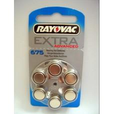 RV675 PILA AUDIOLOGIA 1,4V MARCA RAYOVAC BLISTER X 6