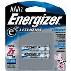 AAA X 2 ENERGIZER LITIO