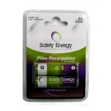 AA X 2 SAFETY RECARGABLE BAJA DESCARGA 2200MAH NIMH