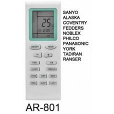 AR801 REMOTO AIRE CARCASA ORIGINAL PHILCO, SANYO NOBLEX