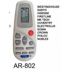 AR802 REMOTO AIRE CARCASA ORIGINAL WESTINHOUSE  PHILCO, SANYO NOBLEX