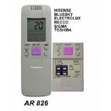 AR826 REMOTO AIRE CARCASA ORIGINAL, HISENSE, BLUESKY, TOSHIBA