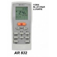 AR832 REMOTO AIRE CARCASA ORIGINAL YORK, BLUESTAR