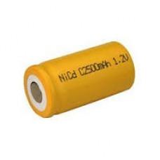 SAFC2500 PILA CILIND.FLAT C 1,2V 2500MA NI-CD