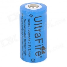16340 PILA LITIO CR123A  RECERCARGABLE 650MAH