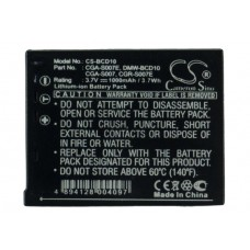BCD10 BAT. P/ PANASONIC LITIO-ION 3.7V 1000 MAH