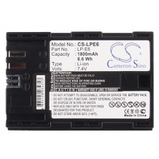 LPE6 BAT. DE VIDEO P/ CANON LITIO-ION   7.4V 1800 MAH