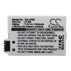 LPE8 BAT. DE VID. P/ CANON LITIO-ION 7.4V 1120 MAH