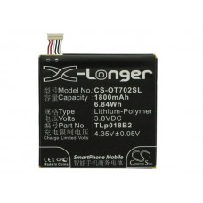 OT702SL BATERIA CELULAR ALCATEL ONE TOUCH 3.7V / 1800MAH / LITIO-ION