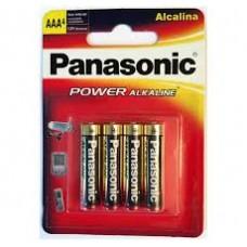 AAA X4 PANASONIC  ALCALINA