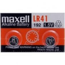 LR41 MAXEL PILA  ALCALINA  UNIDAD 1,5V