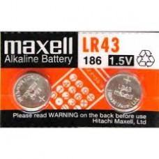 LR43 MAXELL PILA  ALCALINA  UNIDAD 1,5V