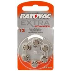 RV13 PILA AUDIOLOGIA 1,4V  RAYOVAC EXTRA  BL X 6