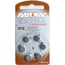 RV312 EXTRA AUDIOL. 1,4V  RAYOVAC BL X 6