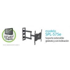 SPL575E SOPORTE EXTENSIBLE DOBLE BRAZO GIRATORIO Y CON INCLINACIÓN, DE 10 A 32